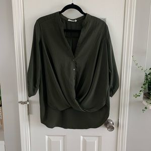 LUSH green blouse
